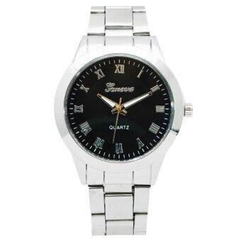 Zazzy Dolls นาฬิกาข้อมือผู้หญิง หน้าปัดดีไซน์เก๋ เลขโรมัน สไตล์แบรนด์ดัง สายสแตนเลสเลสสีเงิน รุ่น ZD-0134 สีเงิน (Silver)