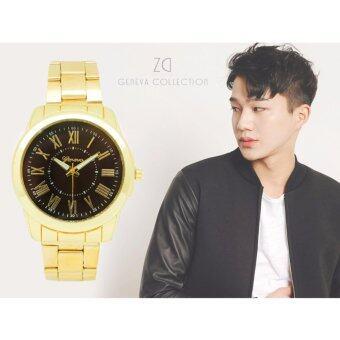 ZD นาฬิกาข้อมือผู้ชาย Geneva Collection รุ่น ZD-0114 สายแสตนเลส ดีไซน์หรู เนี๊ยบ เท่ห์ สไตล์เกาหลี นาฬิกาแฟชั่น นาฬิกาเกาหลี นาฬิกาหรู นาฬิกาชาย