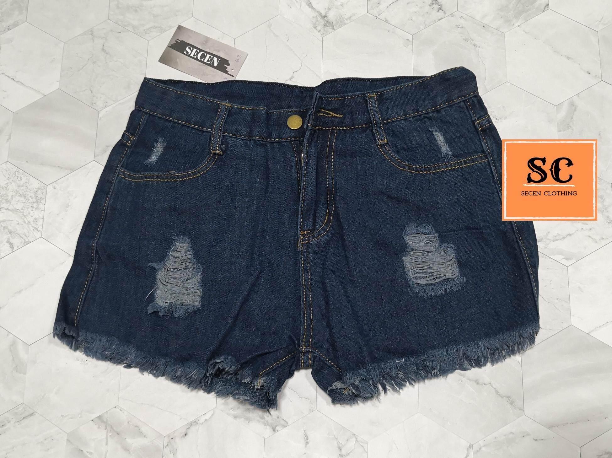 ลดสุดๆ SECEN STYLE - กางเกงยีนส์ขาสั้น แฟชั่น มีเก็บเงินปลายทาง ส่งด่วน kerry   --พร้อมส่ง-- (รุ่น J-002)