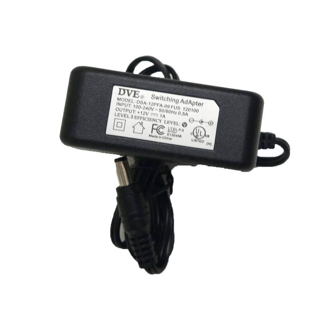 DVE DSA-12PFA-09 FUS 120100 12V 1A Switching Power Adapter Supply Ac Plug