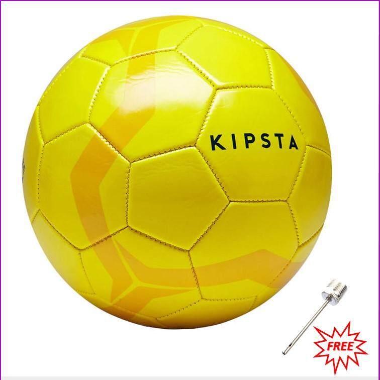 ลูกฟุตบอล ฟุตบอลหนัง football รุ่น FIRST KICK เบอร์ 4 สีเหลือง (สำหรับเด็กอายุ 8 ถึง 12 ปี) แถมเข็มสูบลมมูลค่า 30 บาท