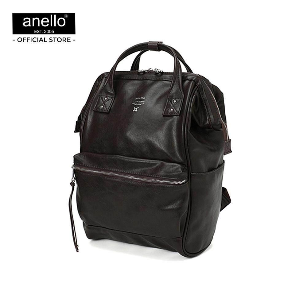 สอนใช้งาน  สมุทรสงคราม กระเป๋า anello  Premium Mouthpiece Regular Backpack_AT-B1519-DBR