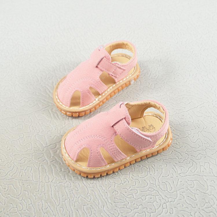 รองเท้าเด็กหัดเดินกันลื่นระบายอากาศ รองเท้ารัดส้นเด็กใหม่เปิดสำหรับเด็กหญิงและเด็กชาย
