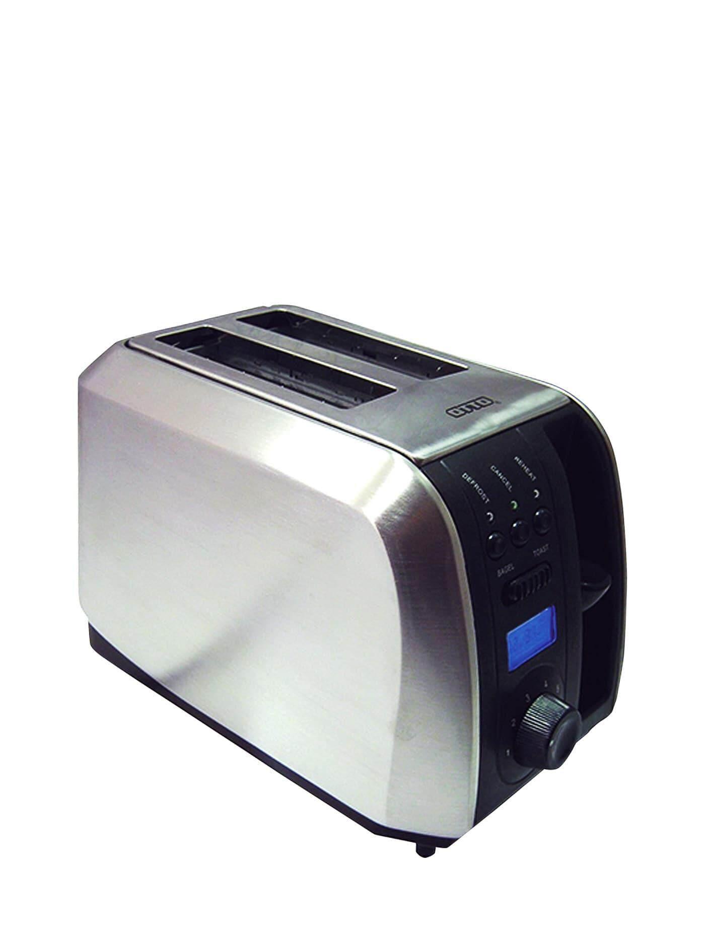ยี่ห้อไหนดี  นครนายก OTTO Toaster Black-Silver toasters makers
