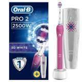 แปรงสีฟันไฟฟ้าเพื่อรอยยิ้มขาวสดใส กำแพงเพชร แปรงสีฟันไฟฟ้า Oral B Pro 2 2500W CrossAction Electric Toothbrush Rechargeable Powered By Braun