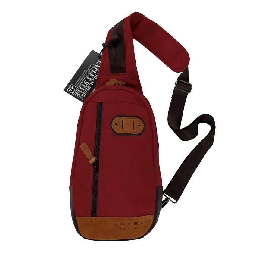 """ลดสุดๆ """"ส่งฟรี KERRY"""" EXPLEYกระเป๋าเป้ พาดลำตัว คาดอก สะพายเฉียง สไตล์ญี่ปุ่น 12 นิ้ว รุ่น 062112 (Red)"""