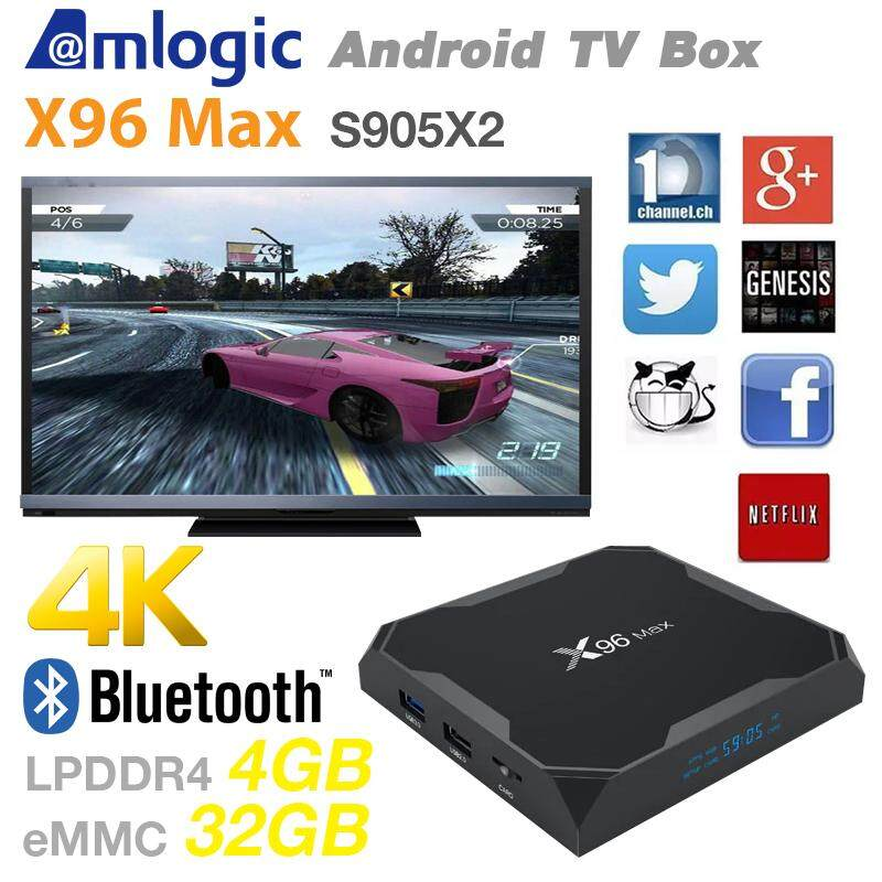 สอนใช้งาน  ฉะเชิงเทรา X96Max Android 8.1 Amlogic S905X2 Quad Core 2.4G WiFi BT H.265 Smart TV Box Ram4/Rom32 GB