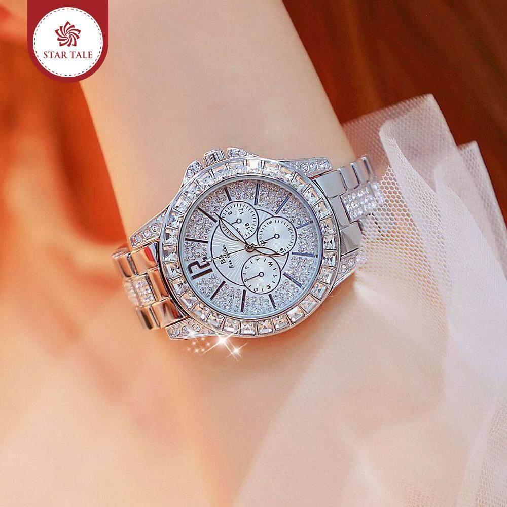 STAR TALE BS beesisiter นาฬิกาผู้หญิง นาฬิกาข้อมือแฟชั่นผู้หญิงแบบมีเพชรสวยลูหลา Casual fashion watch for women -08