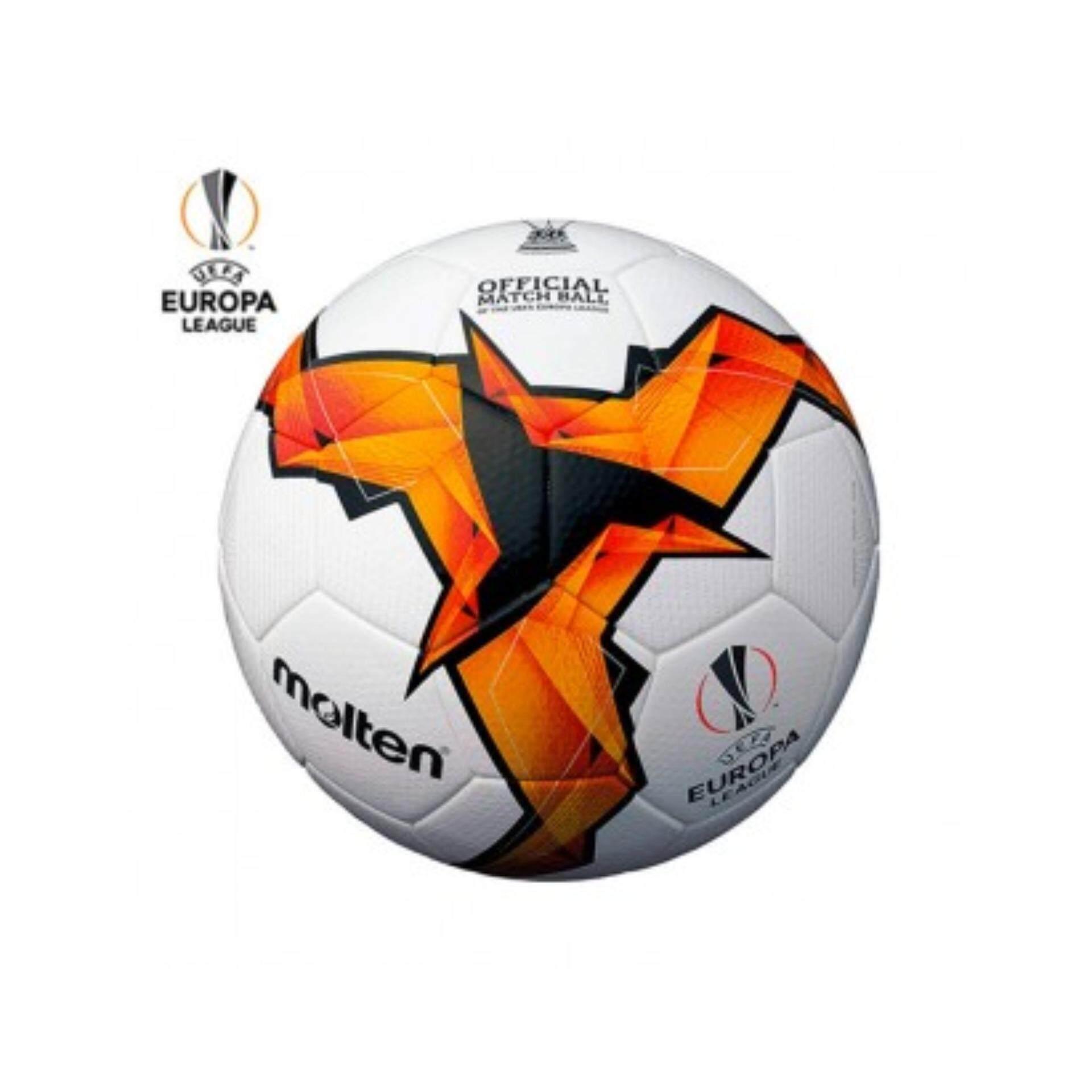 นครปฐม MOLTEN ฟุตบอลหนัง มอลเทน Football AcenterPU th F5U5003-K19 UEL (3900)