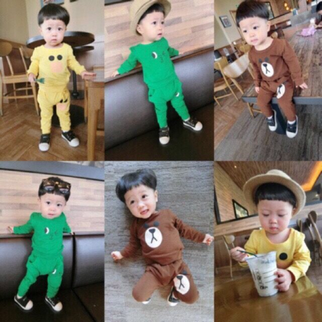 ชุด Line สุดฮิตค่ะ ชุดเด็ก(6เดือน-3ขวบ) เสื้อแขนยาว กางเกงขายาว