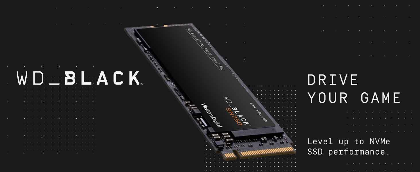 WD BLACK SN750 500GB NVMe Internal Gaming SSD Gen3 PCIe M.2 2280 WDS500G3X0C