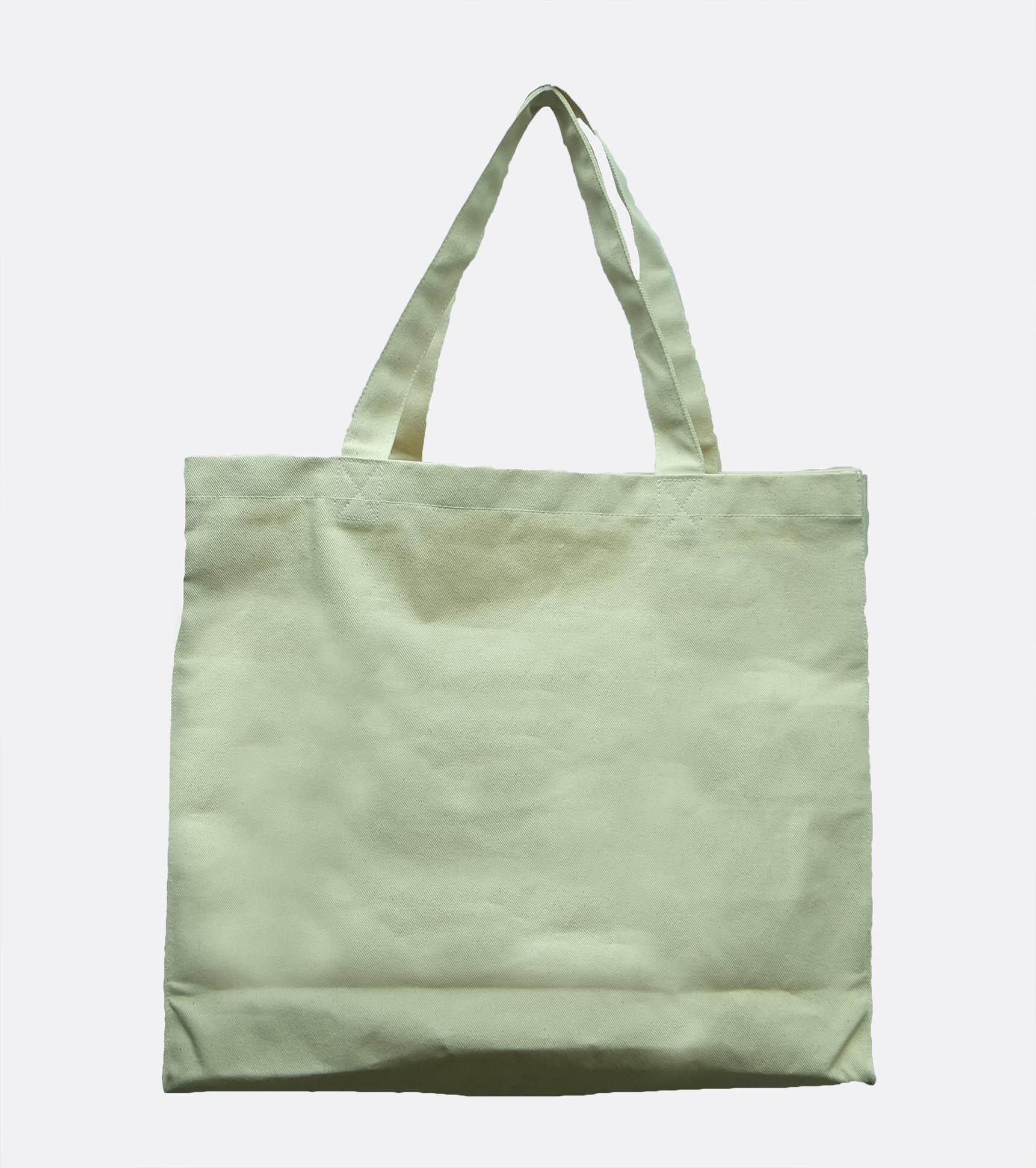 กระเป๋าเป้ นักเรียน ผู้หญิง วัยรุ่น สระบุรี USA Cotton 14 8 x 16 5 นิ้ว ผ้าคอตตอนทวิลพรีเมี่ยม กระเป๋าผ้า ถุงผ้าดิบ tote bag  คงทน เบา สวย คลาสสิค