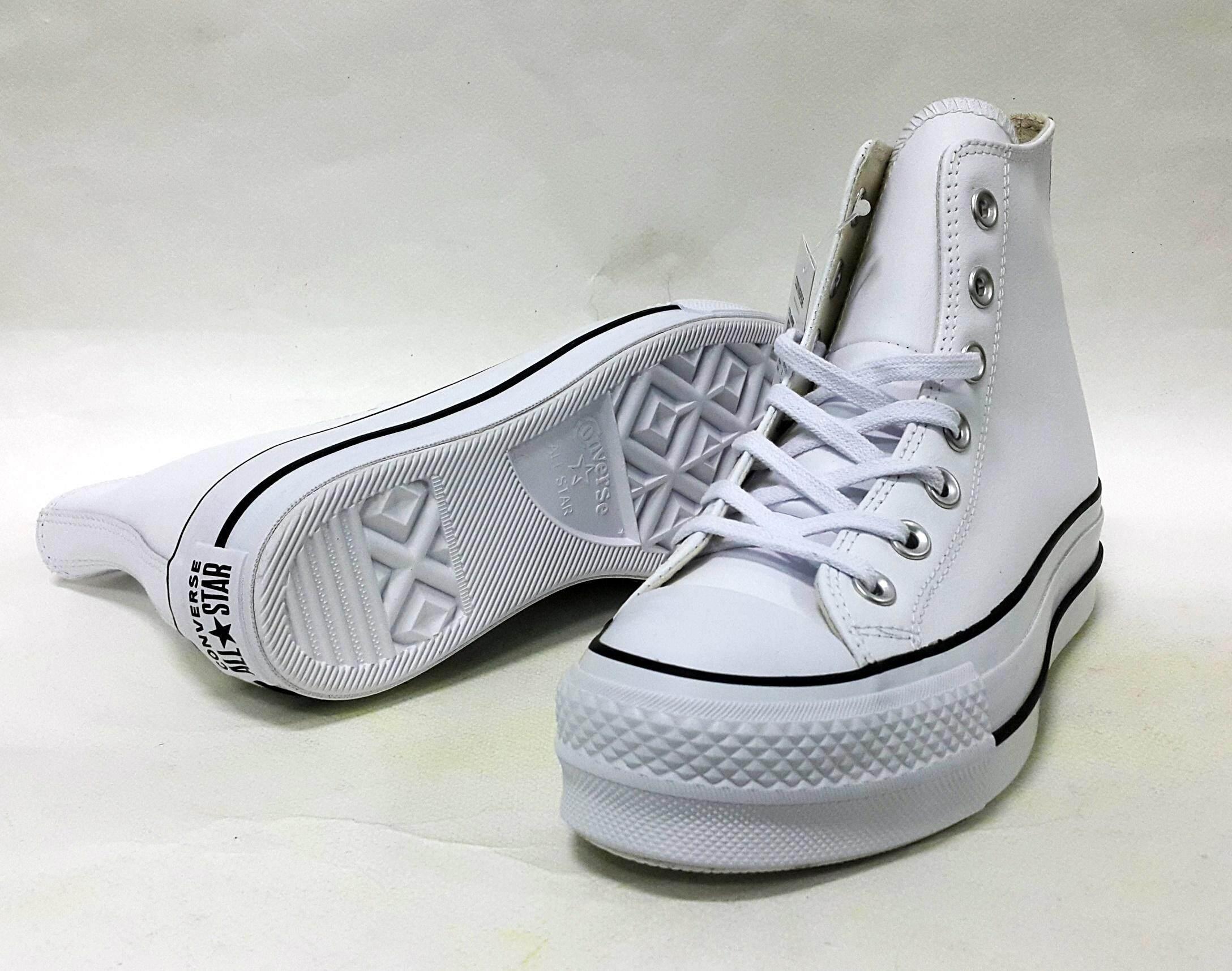 สงขลา รองเท้าหนัง แท้ converse หุ้มข้อ CHUCK TAYLOR ALL STAR LIFT CLEAN  รุ่น 561676