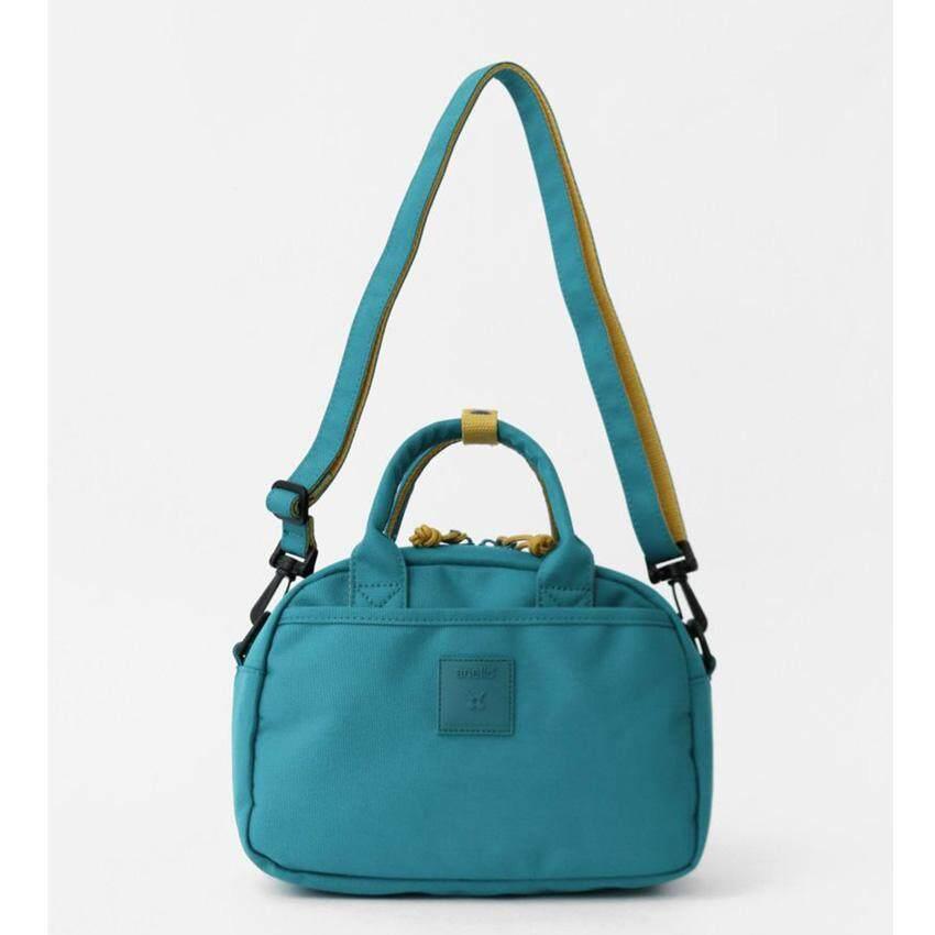 ทำบัตรเครดิตออนไลน์  ระนอง Anello Block 2 Way Boston Bag กระเป๋าสะพายข้างรุ่น H2081-TBL (สีฟ้าเทอร์คอยส์) แท้ 100%