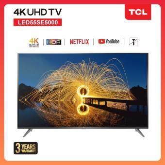 TCL 55 นิ้ว LED  4K UHD Wifi internet Smart TV (รุ่น 55SE5000) -HDMI-USB-Net.flix &Youtube