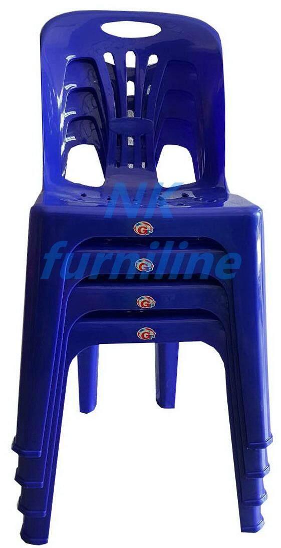 เช่าเก้าอี้ กรุงเทพ NK Furniline เก้าอี้พลาสติก เกรดAมีพนักพิง ปลายขามียางกันลื่น รุ่น CPA 989 แพ็ค4ตัว