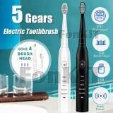 แปรงสีฟันไฟฟ้า ทำความสะอาดทุกซี่ฟันอย่างหมดจด อุดรธานี ETB5 แปรงสีฟันไฟฟ้า 5 เกียร์ ฟรี 4 หัวแปลง ขนแปรงนุ่ม ยืดหยุ่น กันน้ำได้ 100   พกพาสะดวก วัสดุ ฟู้ดเกรด ปลอดภัย ชาร์จได้ทุกที่มี USB น้ำหนักเบา ดีไซน์ทันสมัย เสียงเงียบ 5 Gears Electric Toothbrush Food Grade แปรง รอยลึก ทำความสะอาดคราบฟัน ครบ