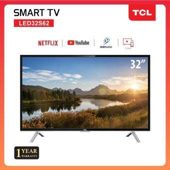 TCL 32 นิ้ว LED HD 720P Wifi internet Smart TV (รุ่น 32S62) -HDMI-USB-Net.flix &Youtube สมาร์ทีวี
