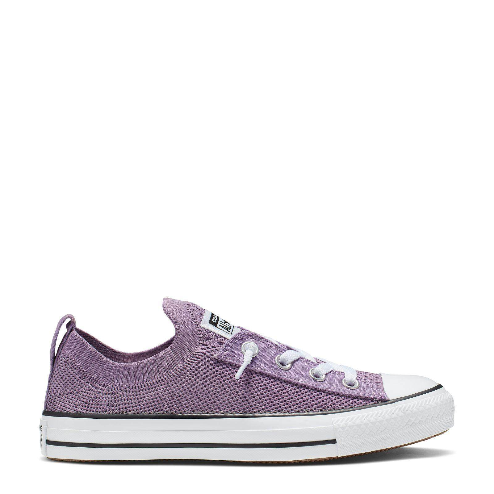 อ่างทอง CONVERSE CHUCK TAYLOR ALL STAR SHORELINE KNIT ALL OF THE STARS - SLIP - DUSTY LILAC/WHITE/BLACK - WOMEN - 565233C - 565233CF9LL