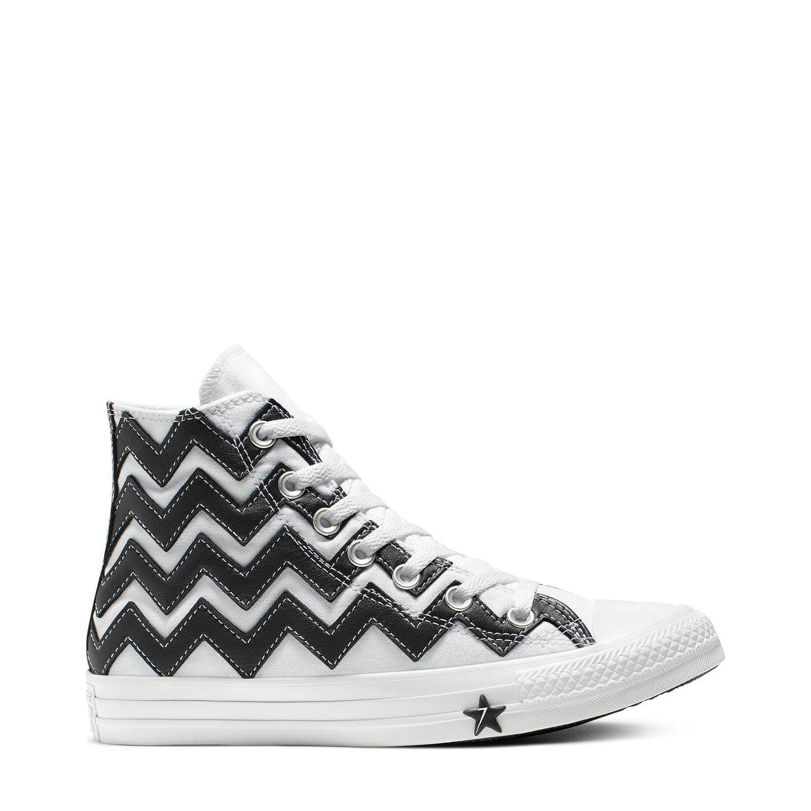 กระบี่ CONVERSE CHUCK TAYLOR ALL STAR MISSION-V - HI - WHITE/BLACK/WHITE - WOMEN - 565376C - 565376CF9BW