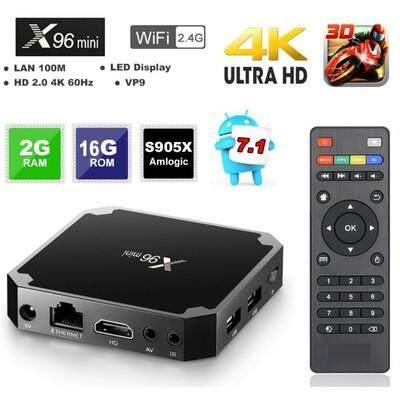 โปรโมชั่นพิเศษ  ประจวบคีรีขันธ์ มัลติมีเดีย X96 มินิ android tv box Kodi V17.3 Android 7.1 2GB + 16 GB 2.4G Wifi