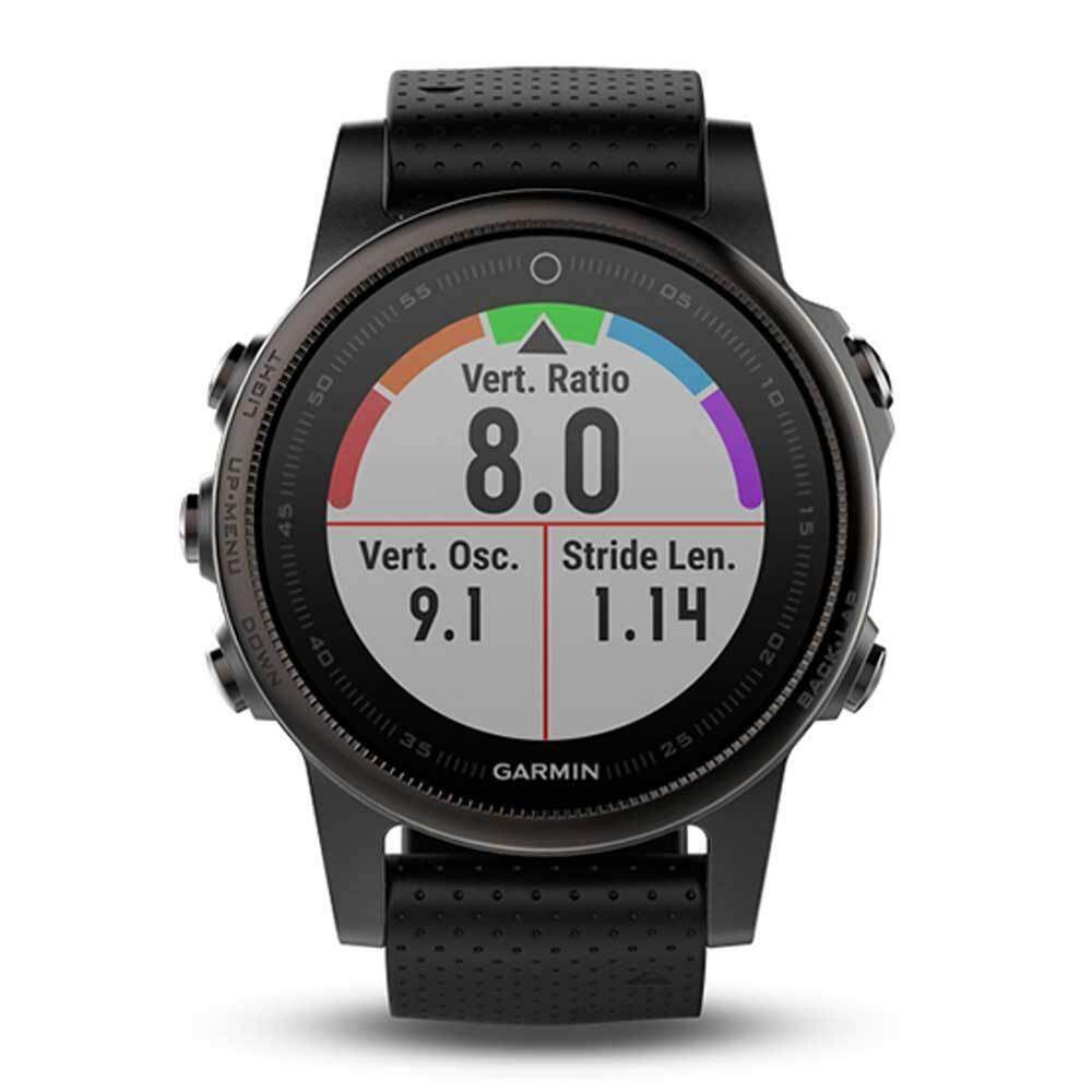 พังงา Garmin Fēnix 5S GM-010-01685-20 Smart Digital Black Silicone Unisex Smartwatch