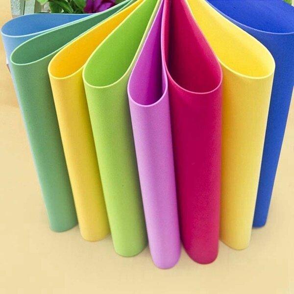 Bechoice แผ่นยางEVAผิวเรียบสีสดใส 3มม. โฟมยางงานประดิษฐ์ DIY แผ่นยางกันกระแทกขนาด 1.2x2.30 เมตร หนา 3 มม.