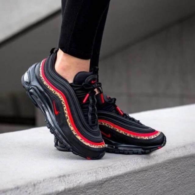ยี่ห้อไหนดี  ประจวบคีรีขันธ์  Nike Air max 97 black university red print (animal)