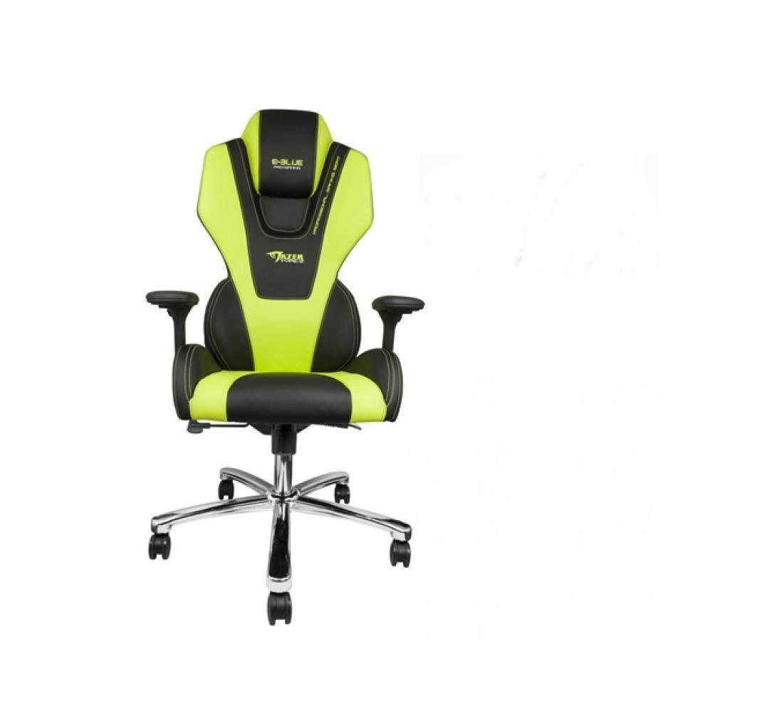 ยี่ห้อนี้ดีไหม  E-BLUE Mazer Type-Z Gaming Chair EEC304GRAA-IA  Black-Green  Steel Base  1Y