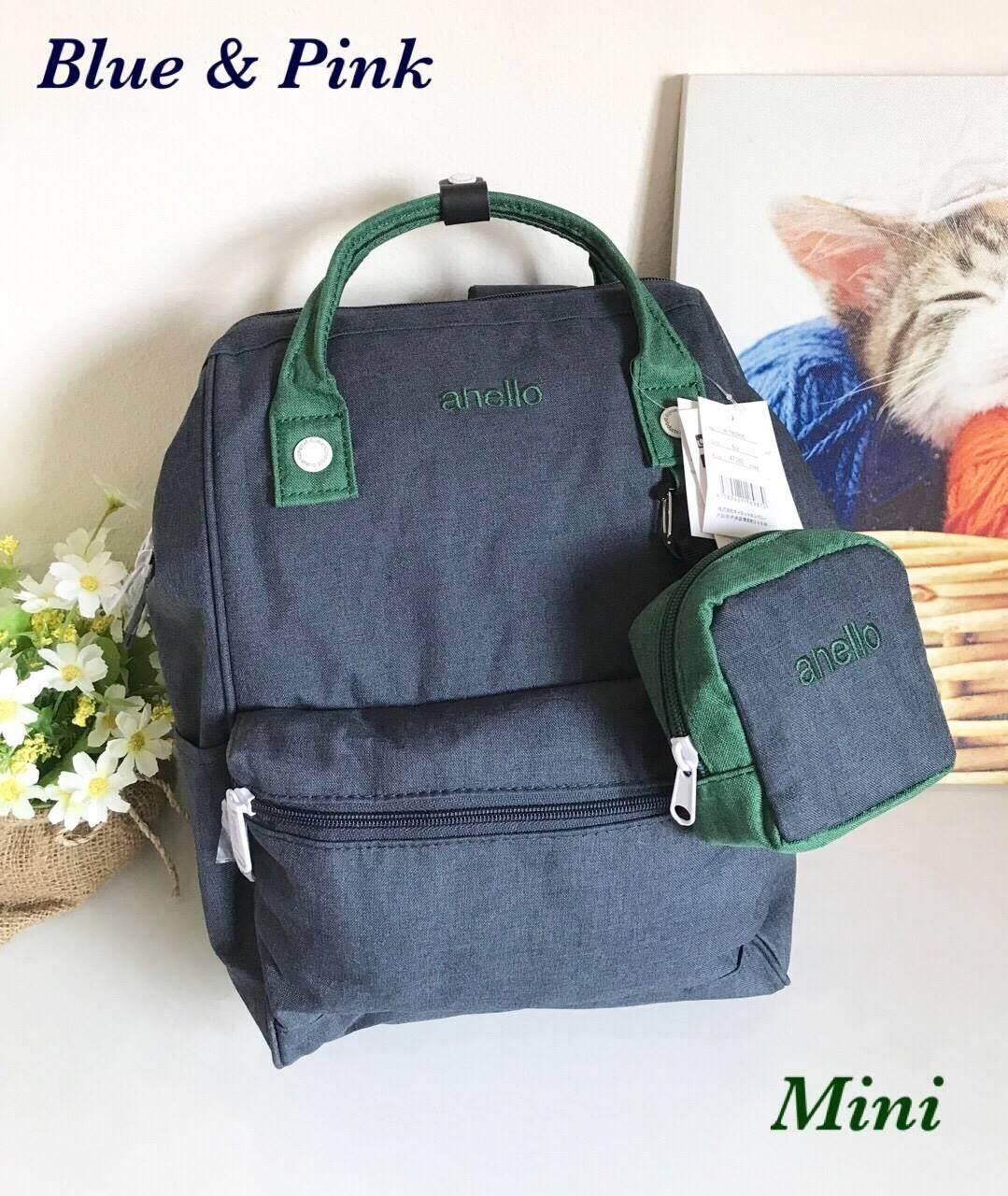 การใช้งาน  ภูเก็ต Anello Dense Motted Polyester Hinged Clasp Classic Backpack  (ของแท้ 100% )