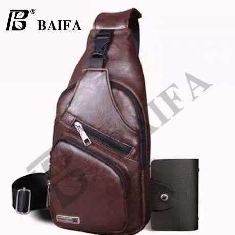 กระเป๋าเป้ นักเรียน ผู้หญิง วัยรุ่น กรุงเทพมหานคร BAIFA SHOP B78 กระเป๋าสะพายไหล่ กระเป๋าคาดอก แบบหนัง สไตล์เกาหลี มีช่องเสียบชาร์ทโทรศัพท์