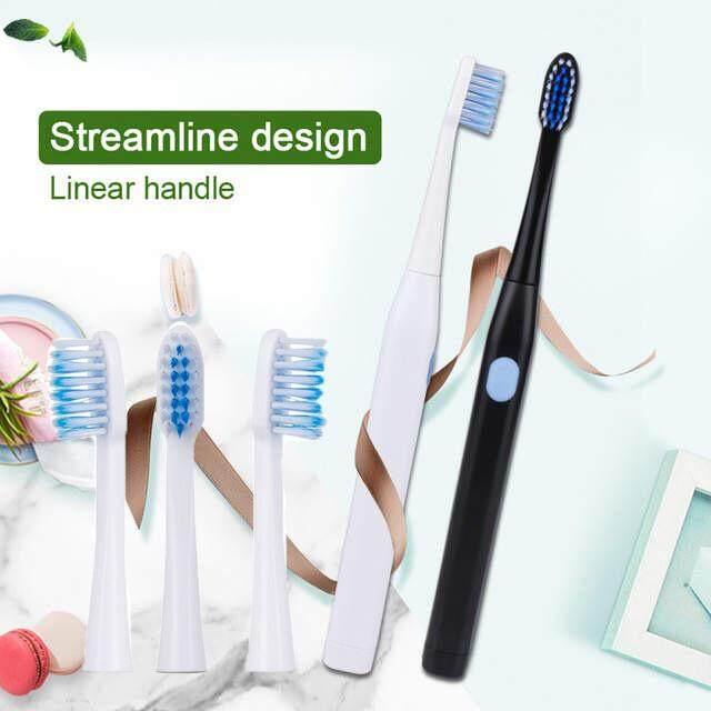 แปรงสีฟันไฟฟ้า ทำความสะอาดทุกซี่ฟันอย่างหมดจด ฉะเชิงเทรา แปรงสีฟันไฟฟ้า แปรงสีฟัน สะอาด Precision clean(ส่ง 3 หัวแปรง)
