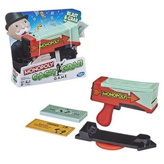 Monopoly Cash Grab Board Party Game Money Blaster บอร์ดเกมครอบครัว