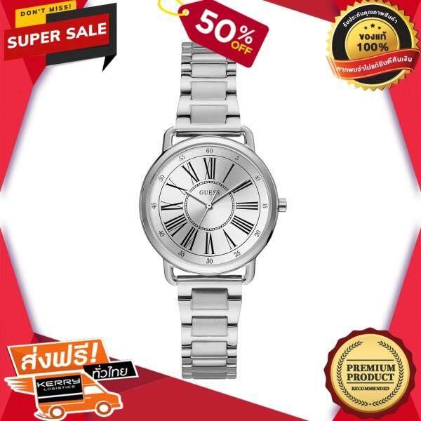 เก็บเงินปลายทางได้ นาฬิกาข้อมือคุณผู้หญิง GUESS นาฬิกาข้อมือผู้หญิง Jackie รุ่น W1148L1 สีเงิน ของแท้ 100% สินค้าขายดี จัดส่งฟรี Kerry!! ศูนย์รวม นาฬิกา casio นาฬิกาผู้หญิง นาฬิกาผู้ชาย นาฬิกา seiko ไ