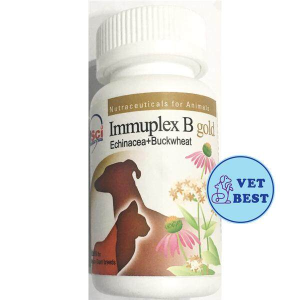 สุดยอดสินค้า!! Immuplex B gold ( 60 เม็ด) +ส่ง KERRY+ วิตามินเสริมภูมิต้านทาน สุนัข-แมว สกัดจากสมุนไพรธรรมชาติล้วน   (หมดอายุ 04/2023)