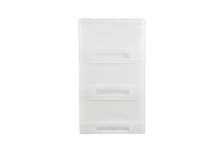 สุดยอดสินค้า!! ลิ้นชักเก็บของ ตู้เก็บของ DRAWER 3TIERS50X40X69cmBIGBOSSWHITE ตู้ลิ้นชัก 3 ชั้น 50X40X69CMBIGBOSSขาว ส่ง kerry เก็บเงินปลายทาง