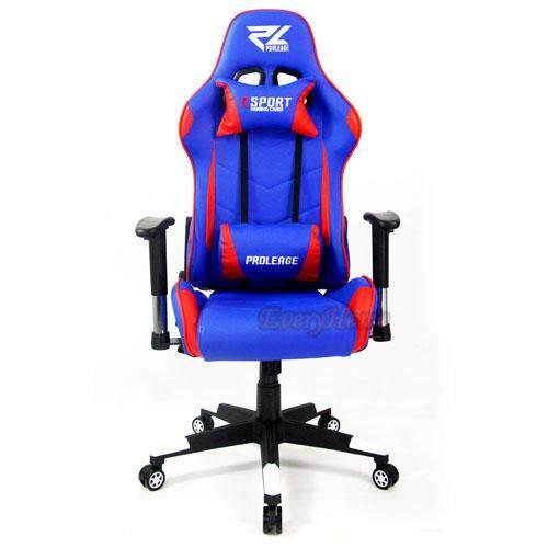 สอนใช้งาน  EveryHomeGaming เก้าอี้เล่นเกมส์ เก้าอี้เกม เก้าอี้ปรับระดับได้ เก้าอี้ทำงาน Racing Gaming Chair รุ่น Proleage PL-101 สีน้ำเงินแดง