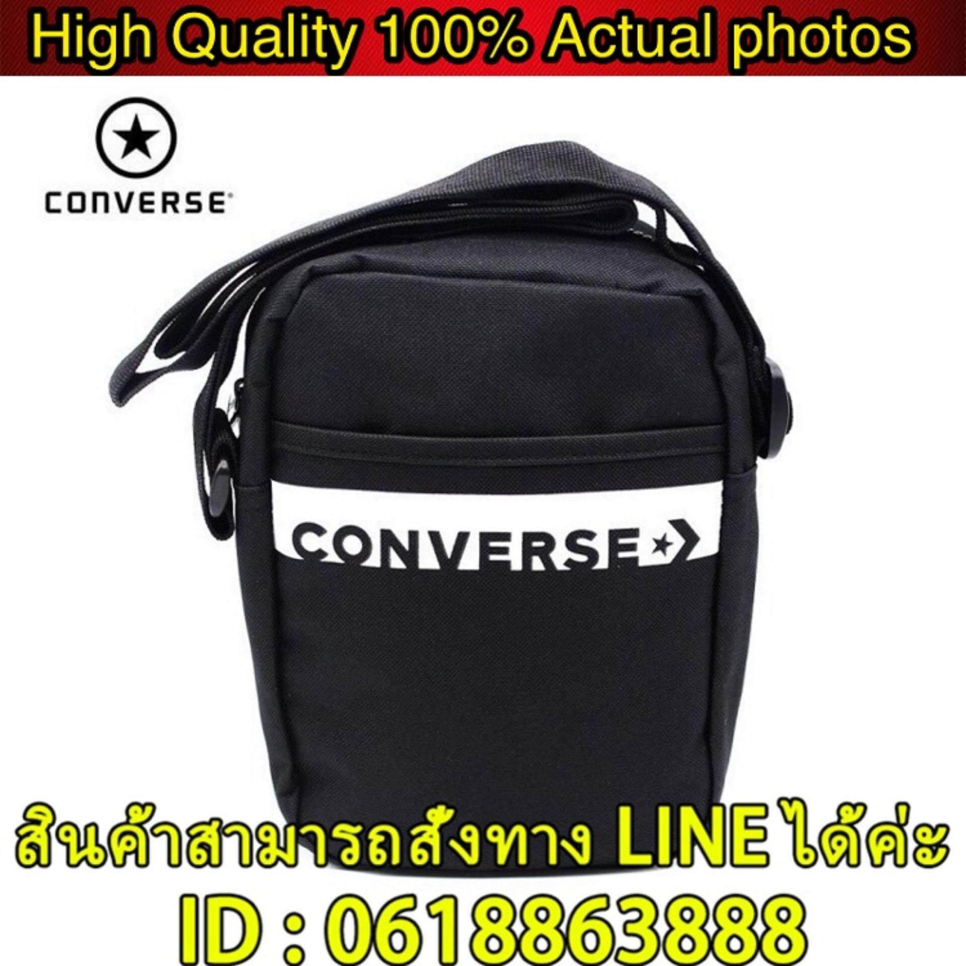 กระเป๋าเป้ นักเรียน ผู้หญิง วัยรุ่น สกลนคร  ลิขสิทธิ์แท้  Converse Revolution Mini Bag สีกรม  กระเป๋าสะพายข้าง