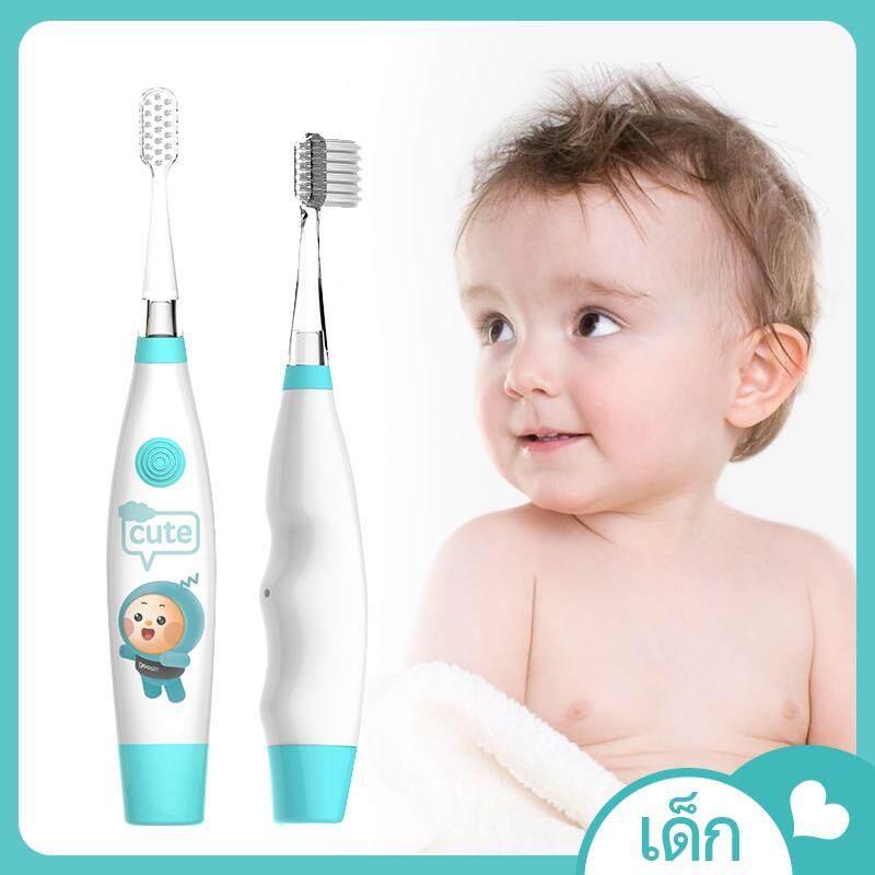 แปรงสีฟันไฟฟ้า รอยยิ้มขาวสดใสใน 1 สัปดาห์ นราธิวาส geesim แปรงสีฟันไฟฟ้าเด็ก GX01 ชายและหญิงเด็กทารกกันน้ำคลื่นเสียงอัตโนมัติ 3 6 12 ปี
