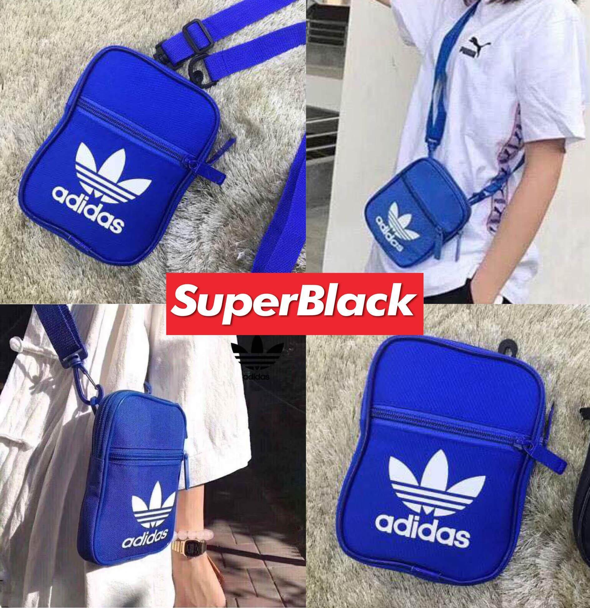 กระเป๋าAdidas สะพายข้าง (สีน้ำเงิน) *จัดส่งจากก.ท.ม ส่งฟรีKerryเก็บเงินปลายได้*