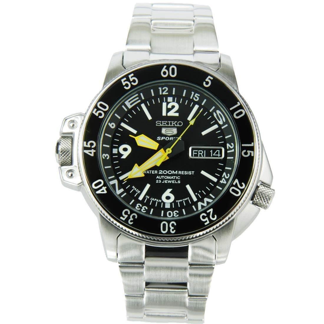 สอนใช้งาน  เชียงราย Seiko นาฬิกาข้อมือผู้ชาย สีเงิน สายสแตนเลส รุ่น SKZ211J1
