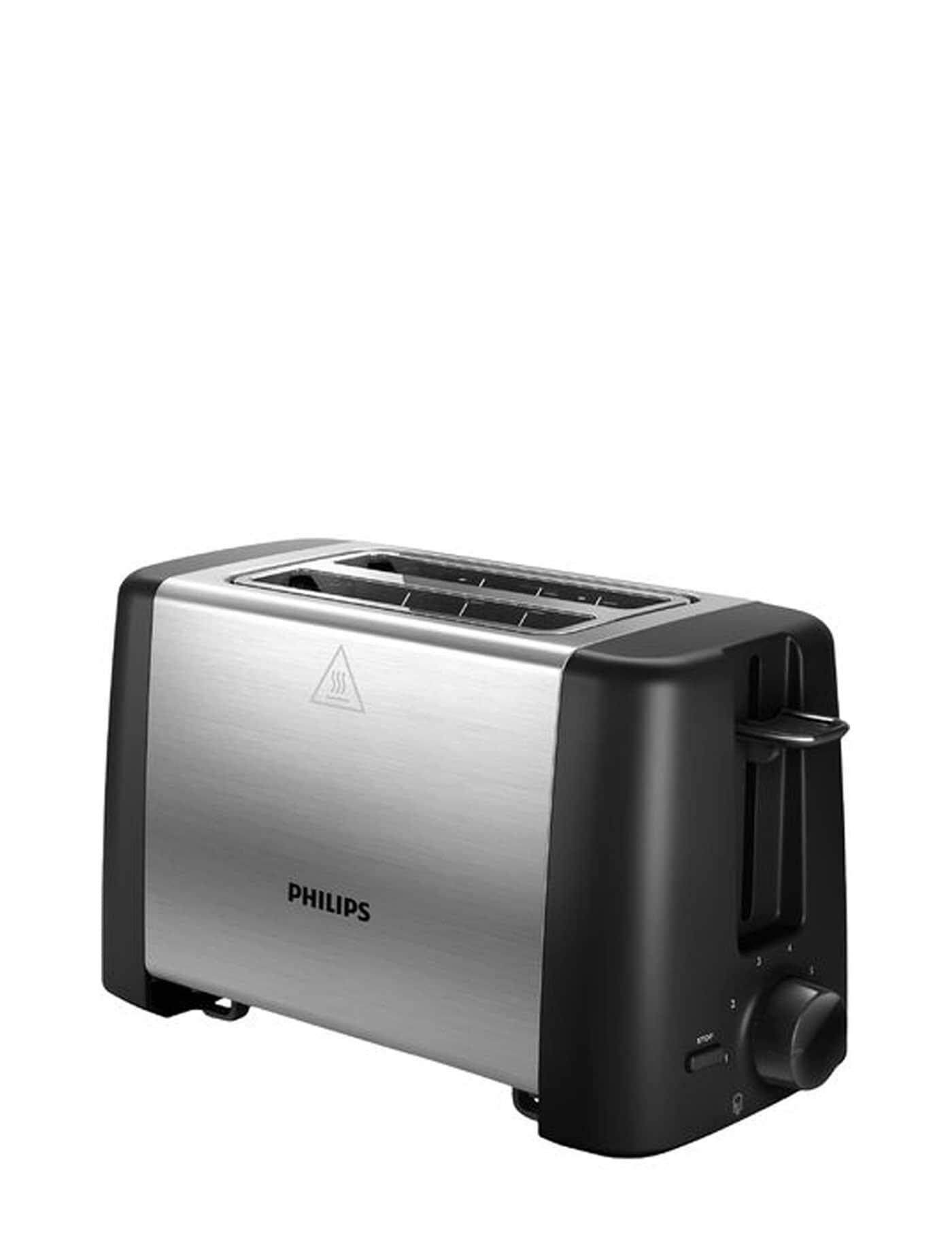 ตาก PHILIPS 2-Slot Toaster Hd4825 Silver-Black toasters sandwich makers