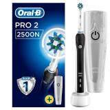 แปรงสีฟันไฟฟ้า ช่วยดูแลสุขภาพช่องปาก หนองบัวลำภู แปรงสีฟันไฟฟ้า Oral B Pro 2 2500N CrossAction Electric Toothbrush Rechargeable