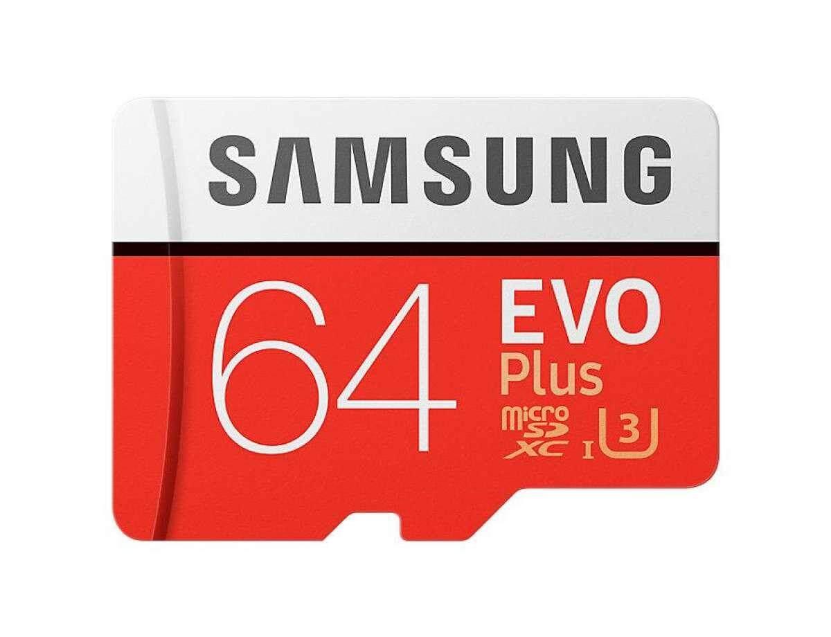 เก็บเงินปลายทางได้ SAMSUNG EVO 64GB MICRO SD การ์ด (รุ่นใหม่) ใหม่ Micro SD การ์ด CLASS 10 รับประกัน 10 ปีส่ง KERRY ทั่วประเทศ