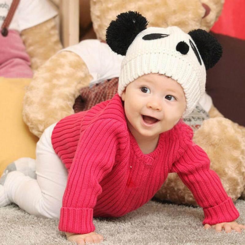 หมวกไหมพรม หมวกเด็กไหมพรม หมวกถักโครเชต์ หมวกบีนนี่ หมวกผ้าถัก หมีแพนด้าน่ารัก หมวกเด็ก หมวกเด็กอ่อน หมวกเด็กทารก หมวกเด็กแฟชั่น สําหรับเด็กผู้ชายและเด็กผู้หญิง อายุประมาณ 3เดือน-4ปี ขนาดก่อนยืด 36 c
