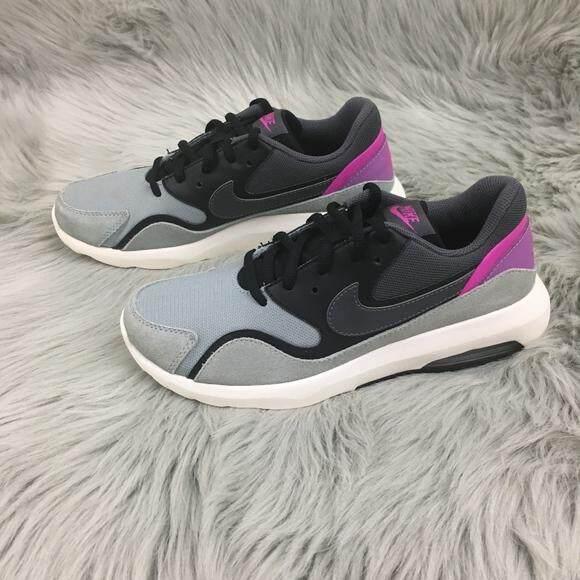 เก็บเงินปลายทางได้ NIKE รองเท้าผ้าใบ วิ่ง ไนท์กี้ Air Max Nostalgic (Grey-Black วิ่งสบายสไตล์โมเดิร์น) ++ของแท้100% พร้อมส่ง ส่งด่วน Kerry++