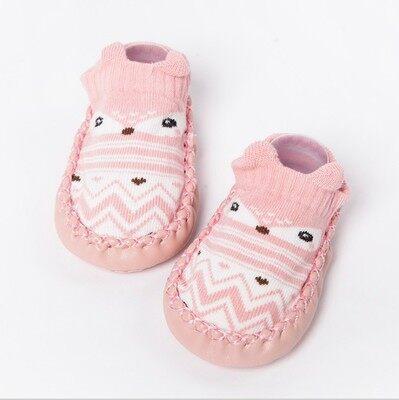 รองเท้าเด็ก ลายการ์ตูนสัตว์น่ารักถุงเท้าเด็กหัดเดินทารกเด็กแรกเกิดชายหญิง