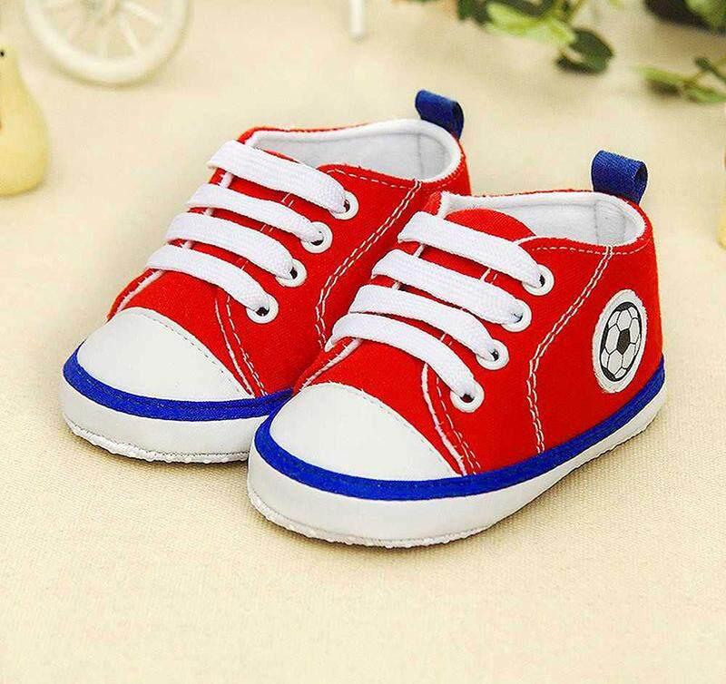 ขายดีมาก! รองเท้าผ้าใบเด็ก พื้นนุ่ม รองเท้าเด็กเล็ก รองเท้าหัดเดิน รองเท้าเด็กแฟชั่น ผ้าเนื้อดี ทนทาน มีกันลื่น ลวดลาย ฟุตบอล ส่งไว KERRY