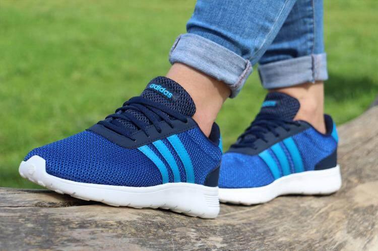 สุดยอดสินค้า!! Adidas รองเท้า ออกกำลังกาย ผู้หญิง Women Running shoes อาดิดาส Lite Racer Blue น้ำหนักเบามาก สวมใส่สบาย พื้นรองรับแรงกระแทกดี ของแท้100% ส่งไวด้วย kerry!!!