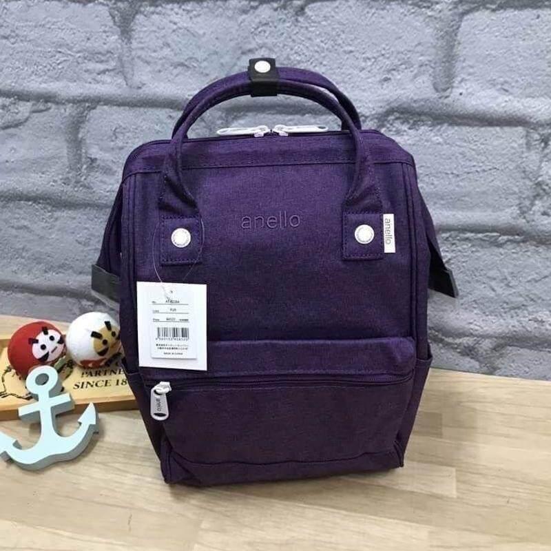 บัตรเครดิต ธนชาต  ตาก Anello Mottled Polyester Mini Backpack เป้แบรนด์ดัง วัสดุ poleyester canvas เนื้อผ้าหรูหราและทันสมัย